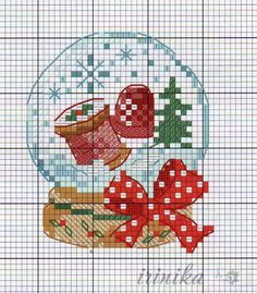 Xmas Cross Stitch, Cross Stitch Christmas Ornaments, Cross Stitch Heart, Christmas Cross, Cross Stitching, Cross Stitch Embroidery, Embroidery Patterns, Christmas Crochet Patterns, Christmas Embroidery