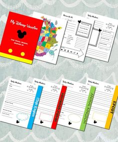 Kids' Disney World Vacation Journal with Personalized