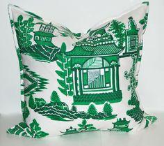 Green Pagoda Pillows