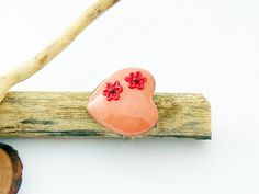 Pink heart ring with flower  polymer clay jewelry by spikycake, $15.00 Polymer Clay Jewelry, Heart Ring, Unique Jewelry, Handmade Gifts, Rings, Flowers, Etsy, Kid Craft Gifts, Craft Gifts