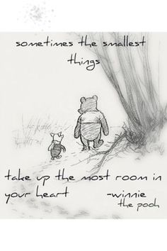 """Favorite Winnie & Piglet quote: """"Piglet sidled up to Pooh from behind."""" he whispered. """"Yes, Piglet?"""" """"Nothing,"""" said Piglet, taking Pooh's hand. """"I just wanted to be sure of you. Milne, Winnie-the-Pooh Winnie The Pooh Drawing, Winnie The Pooh Quotes, Winnie The Pooh Classic, What Day Is It, Illustration, Pooh Bear, Disney Quotes, Disney Poems, Graphic"""
