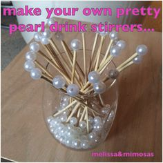 "with my girls night party approaching quickly, it was just about time to start the diy projects to prepare... the theme of the night is ""pj's and pearls"" so i definitely wanted to incorporate..."