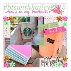 """#btswithkailey2k15 what's in my backpack & locker // kailey"" by paradise-icons-and-tips-xo ❤ liked on Polyvore"