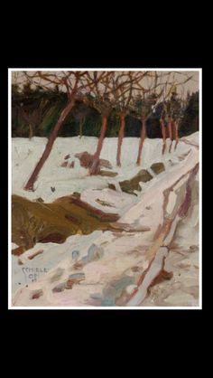Egon Schiele - Schnee, 1908 - Oil on board - 21,5 x 17,5 cm
