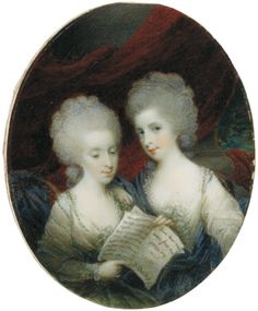 Samuel Shelley, portrait of Misses Annabella and Mary Craufordvam