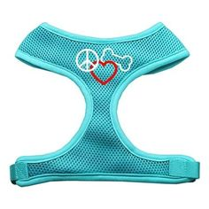 Mirage Pet Products Peace, Love, Bone Design Soft Mesh Dog Harnesses, Large, Aqua *** For more information, visit image link. (This is an affiliate link and I receive a commission for the sales) #DogLovers