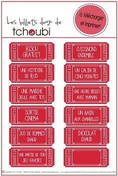 Bon pour à imprimer pour la Saint Valentin #printable Tchoubi