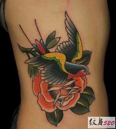 标签: 腰部纹身 鸟纹身 燕子纹身 日期:2016-01-05 ...