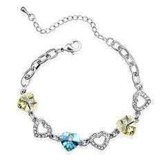 Temukan dan dapatkan Gelang Rantai Swarovski Crystal Elements Colorful Love hanya Rp 205.000 di Shopee sekarang juga!…
