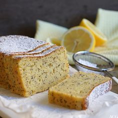 Sabla saftig sitronkake - ENEstående Mat A Food, Banana Bread, Baking, Desserts, Baking Soda, Tailgate Desserts, Deserts, Bakken, Postres