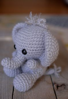 Adorable Elephant amigurumi by Theresas Crochet Shop -pattern to buy