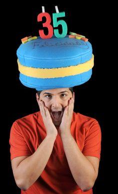 Gorro gomaespuma:Tarta personalizada