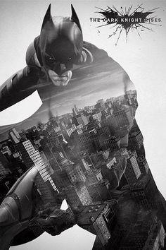 Póster Batman The Dark Rises, Gotham City