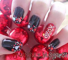 Prettyfulz Valentine's Day nails XOXO