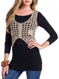 Love the crocheted vest trend