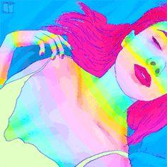 girl trippy cute rainbow sexy drugs lsd dream acid colorful rave plur Psychedelic art psychedelia energy mdma psilocybin animated art edmlife SEXY ART drugs art