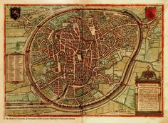 Maps of Medieval Cities; Bologna, Bristol, Brugge, Brussels, Budapest, Constantinople, Florence, London, Paris, Scandinavia and More...
