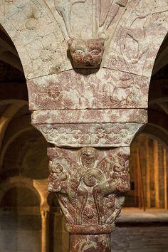 Prieuré de Serrabone. Boule-d'Amont. Languedoc-Roussillon Santa Maria, Carcassonne, Languedoc Roussillon, South Of France, Romanesque, Decor, Art, Romanesque Art, Decorating