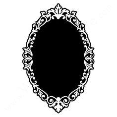 Vine Oval Frame Drawing