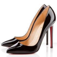 Classic Christian Louboutin black pumps...link leads to discount designer shoe site
