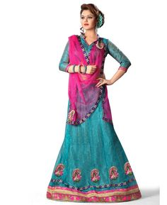 Buy Radiant Blue Lehenga Choli online at  https://www.a1designerwear.com/radiant-blue-lehenga-choli-3  Price: $28.37 USD