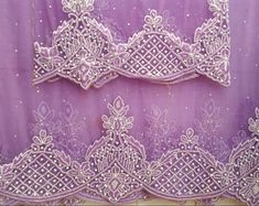 Lilace Bead & Stone Net George High Quality African George Lace With Blouse Fabric African Wear, Cutwork, Latest Fashion Trends, Bridal Dresses, Indian, Embroidery, Silk, Beads, Stone