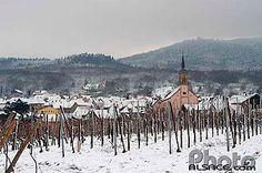 Vue sur ll'église et le village d'Heiligenstein, Bas-Rhin (67)
