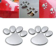 Paw Print 3D Car Decal