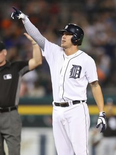 Detroit Tigers' Miguel Cabrera nominated for Hank Aaron Award Hank Aaron, Detroit Tigers, Baseball Players, Man Crush, Mlb, Sporty, Crushes, Career, Tops