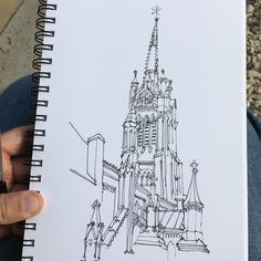 """44 Likes, 4 Comments - Zach Downey (@xacdowney) on Instagram: """"#sketch of St. James Cathedral in #toronto #canada #sketchbook #sketching #urbansketchers…"""""""