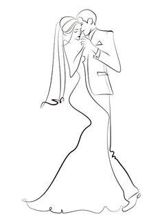Set of vector wedding illustration , Mini Drawings, Outline Drawings, Easy Drawings, Wedding Illustration, Illustration Sketches, Art Sketches, Wedding Drawing, Wedding Art, Minimal Art