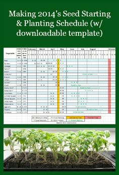 Making 2014's Seed Starting & Planting Schedule (w/downloadable template)
