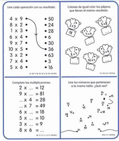 Cuaderno tablas de multiplicar (23) Math Skills, Math Lessons, Math Games, Math Activities, Math Sheets, Kids Math Worksheets, Math Multiplication, Math For Kids, Home Schooling