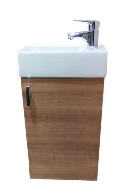 Skrinka s umývadielkom Jika LITT 40 cm, čerešňa, univerzálne otváranie