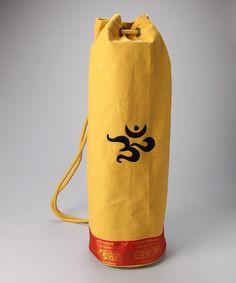 OMSutra Yellow Mahayogi Mat Bag  zulilyfinds Yoga Mat Bag 99b49b95e4ede