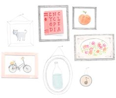 I am utterly in love with Amy Borrell's oh-so-sweet illustrations.