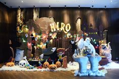 When Hotel Transylvania Meets Baymax Birthday Party Festa Hotel Transylvania, Hotel Transylvania Birthday, Disney Halloween, Halloween Party, Halloween Decorations, Backdrops For Parties, Boy Birthday Parties, Photo Booth, Party Themes