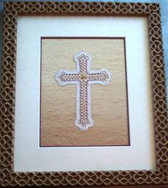 Bobbin Lace Cross made for Remington United Methodist Church 2010.