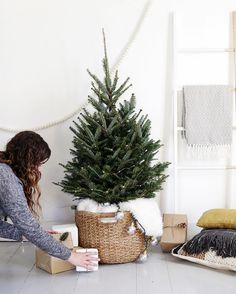 """""""Tha gals at @themerrythought are sharing their tips for creating this small-space-friendly Scandi-chic Christmas tree! Check them out on our blog—link in…"""""""