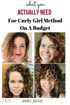 What do you actually NEED to get started with curly girl method? Check out this basic list of how you can get started today! hair care What You Actually NEED For Curly Girl Method On A Budget Wavy Hair Care, Curly Hair Styles, Wavey Hair, Dry Curly Hair, Hair Care Oil, Curly Hair Routine, Curly Hair Tips, Oily Hair, Hair Care Routine