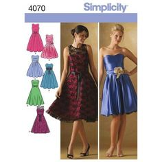 Simplicity 4070 Women's Evening And Bridal Wear