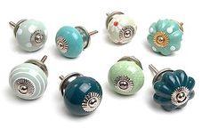 Shabby Chic Vintage Style Ceramic Cupboard Knobs Kitchen Door Knob Drawers Pulls | eBay