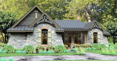 Rugged Rustic 3 Bedroom Home Plan - 16863WG   Cottage, Country, Craftsman, Mountain, Ranch, Vacation, 1st Floor Master Suite, Bonus Room, Butler Walk-in Pantry, CAD Available, Den-Office-Library-Study, Jack & Jill Bath, PDF, Split Bedrooms, Corner Lot   Architectural Designs
