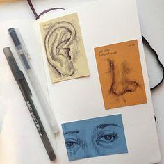 Kugelschreiber Sketchbook Art - a r t - Kunst skizzen Art Inspo, Kunst Inspo, Love Drawings, Drawing Sketches, Art Drawings, Doodle Sketch, Face Sketch, Simple Drawings, Drawing Step