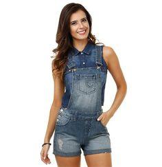 Jardineira feminina em Jeans