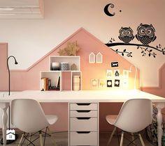 Pokoje dla nastolatków młodszych i najmłodszych - Średni pokój dziecka dla dziewczynki dla rodzeństwa dla nastolatka, styl skandynawski - zdjęcie od ELEMENTY - Pracownia Architektury Wnętrz