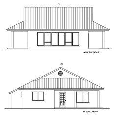 Elevation of Strawbale house plan