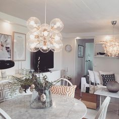 """Tage"" taklampa från Pholc Small Spaces, Chandelier, Ceiling Lights, Lighting, Interior, Instagram Posts, Furniture, Beautiful, Home Decor"