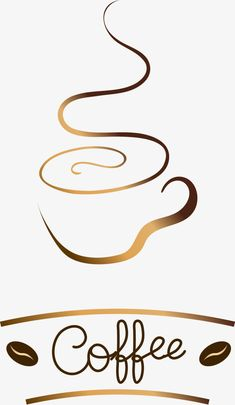 Jane pen golden brown coffee logo logo, Logo, Decoration, Vector PNG and Vector Coffee Doodle, Coffee Cup Art, Coffee Cafe, Logo Café, Cup Logo, Logo Pen, Brown Coffee, I Love Coffee, Tea Cup Drawing