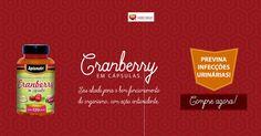 Previna infecções urinárias!  Cranberry tem como uma de suas principais características a ação antioxidante neutralizando os prejudiciais radicais livres protegendo assim nosso organismo. http://www.maissaudeebeleza.com.br/p/373/cranberry-apisnutri-500mg-c120-capsulas?utm_source=pinterest&utm_medium=link&utm_campaign=Cranberry&utm_content=post  Comprar no WhatsApp (41) 8868-4301 | (41) 3022-7393 Seg. à Sex. das 8h às 18h | Sábados das 8h às 12h